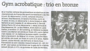 2014 06 18 : Gym acrobatique : trio en bronze